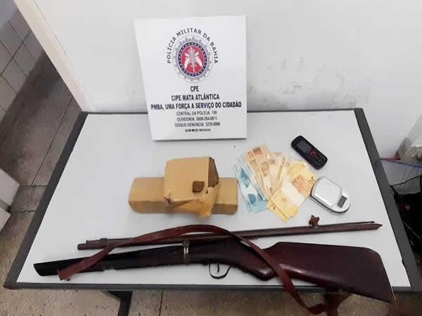 CAEMA prende acusado de tráfico em Medeiros Neto – BA