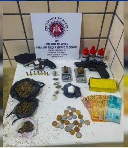 Homem é preso com arma e drogas no bairro Castelinho – Teixeira de Freitas BA