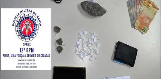 Jovem é conduzido à delegacia por suspeita de traficar drogas no Phoc I – Camaçari – BA
