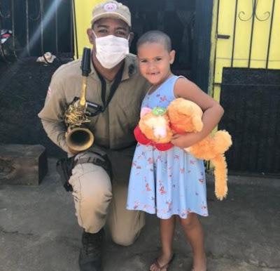 PM faz campanha para ajudar criança com câncer em Ipiaú – BA