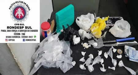 PM prende traficante e apreende cocaína, crack e maconha em Buerarema – BA