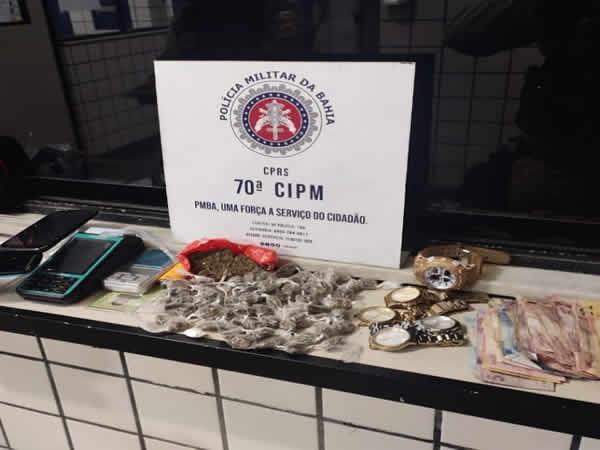 Polícia prende suspeito com grande quantidade de drogas no Iguape – Ilhéus BA