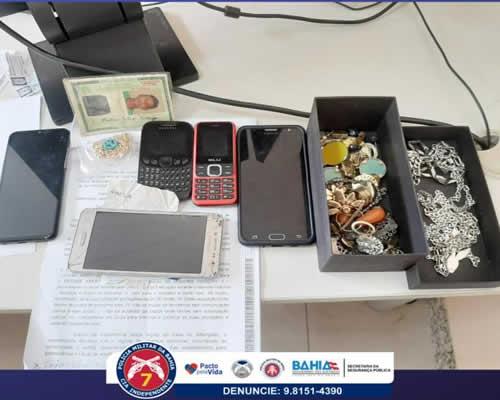 Policiais da 7ª CIPM prendem suspeitos de roubo a joalheria em Eunápolis BA