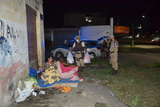Policiais Militares da BCS/Monte Cristo realizam Campanha do Agasalho 2021