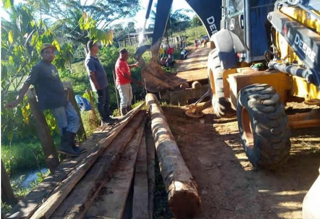 Prefeitura de Ilhéus recupera estrada e ponte que dão acesso ao distrito do japu