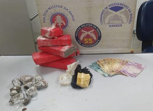 Traficante é preso com crack, cocaína e maconha no Centro de Ipiaú – BA