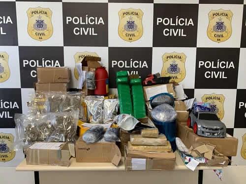 Polícia apreende encomendas com drogas enviadas através dos Correios da Bahia
