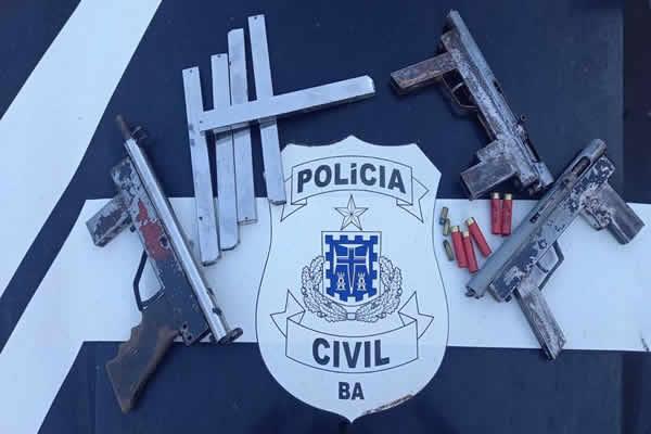 Polícia apreende três submetralhadoras em casa do bairro Malhado em Ilhéus – BA