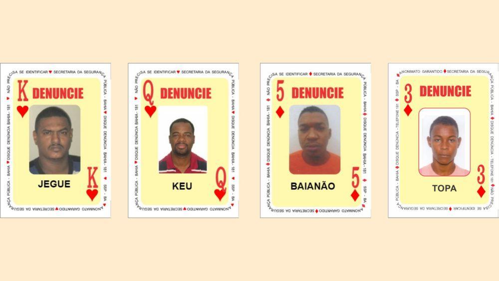Veja os quatro criminosos mais procurados da Bahia
