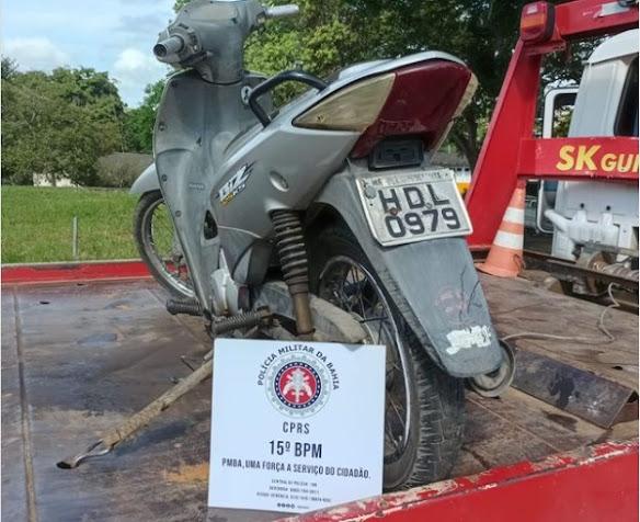 Polícia Militar recupera moto roubada em Itabuna menos de 24h após o crime